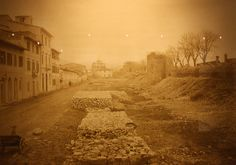 1885: destruction of the old florentine walls, here is close to Porta al Prato