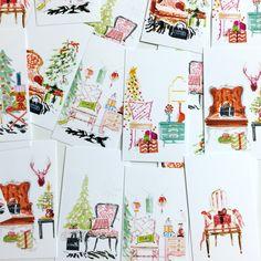 Christmas Tags Gift Tags Favor Tags Holiday by ShannSpishakStudio