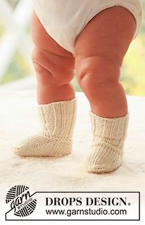 Little Piggies - Knitted socks for baby and children in DROPS Alpaca - Free pattern by DROPS Design Baby Knitting Patterns, Baby Boy Knitting, Easy Knitting, Crochet Patterns, Drops Design, Drops Alpaca, Drops Baby, Knit Baby Sweaters, Baby Socks