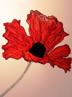 Red Poppy By Michelle Luter!  http://www.smartgallery.co.uk/artworks/michelleluter003