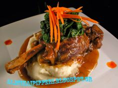 New Zealand Gluten Free Chef - Jimmy Boswell: Rosemary Orange Braised Lamb Shanks Veal Shank, Lamb Shank Recipe, Roasted Garlic Mashed Potatoes, Braised Lamb Shanks, Cooking Recipes, Healthy Recipes, Free Recipes, Lamb Recipes, Paleo Recipes