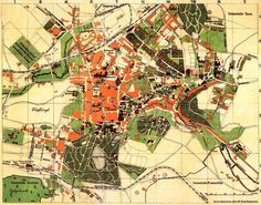 Czech Republic - Old Map of the Town Teplice (Teplitz) from Year 1914 Old Maps, Cartography, Czech Republic, City Photo, Journey, Places, Beautiful, Germany, Antique Maps