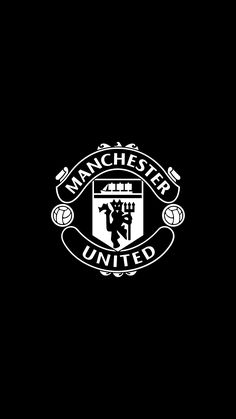 Manchester United B&W OLED WallpaperYou can find Manchester united and more on our website.Manchester United B&W OLED Wallpaper Manchester United Team, Manchester City, Manchester United Wallpapers Iphone, Premier League, Top Funny Videos, Poster Design Layout, England Football, Soccer Quotes, Sports Wallpapers