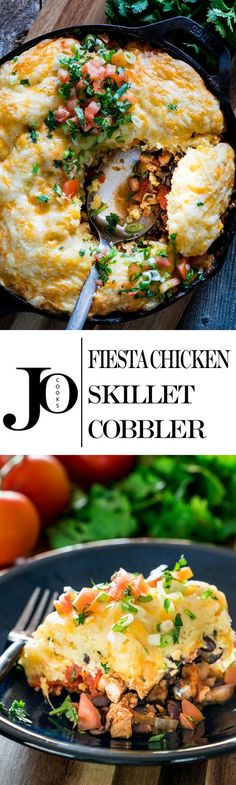 This Fiesta Chicken Skillet Cobbler will rock your world, well at least your…