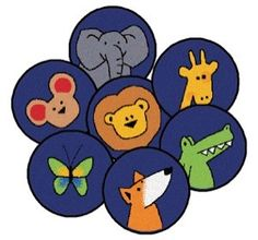 The God's Animals Carpet Squares are perfect for your Sunday School's daycare, waiting area or Bible Studies. Ask young children to take a seat on one of their favorite Arc animals. #faithbasedrugs #sensoryedge http://www.sensoryedge.com/gods-animals-carpet-circles.html