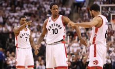 Raptors' backcourt shines in Game 5 victory = The Toronto Raptors exploded early — leading by as much as 20 midway through the second quarter — and never really looked back, defeating the Miami Heat 99-91 in a wire-to-wire victory to move them to the brink of.....