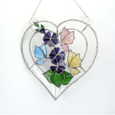 Butterflies and Flowers 3D Heart Shaped by Nostalgianmore on Etsy, $145.00