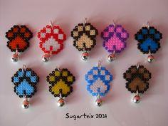Medallas modelo huella para el collar de tu mascota.  Si te gustan puedes adquirirlas en nuestra tienda on-line: http://www.sugarshop.eu