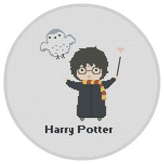 Harry Potter cross stitch pattern Harry Potter cartoons by Xrestyk