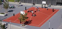 The world's craziest basketball court, in Munich