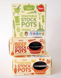 Tesco stock pot packaging by Debbie Powell