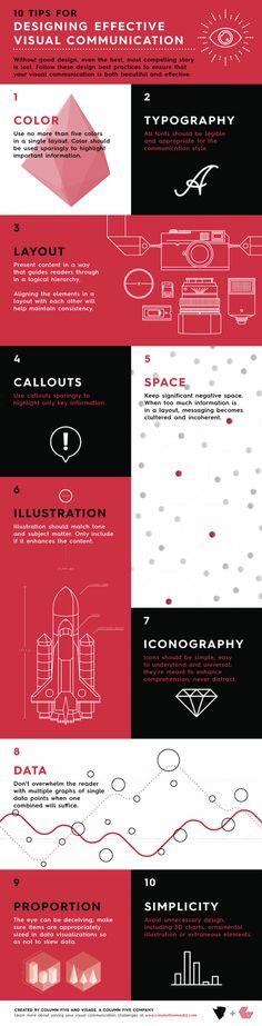 Infografía: Consejos para el diseño eficaz de Comunicación Visual - DesignTAXI.com