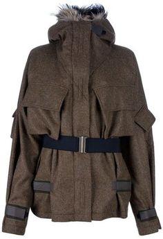 ShopStyle: Dries Van Noten Fur hood parka
