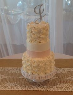 Ercream Rosettes By Heather Lester Pelham Of Emerald Coast Custom Cakes Destin Fl Emeraldcoastcustomcakes