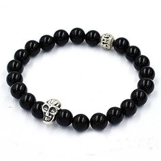 Koky Fashion Agate Beads Stretch Bracelet with Skull Spacer Koky http://www.amazon.com/dp/B0171U5RBS/ref=cm_sw_r_pi_dp_guZtwb1X13472