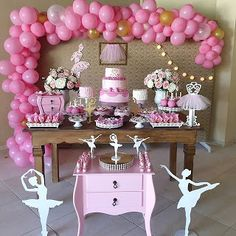 Ballerina Birthday, Girl Birthday, Happy Birthday, Birthday Parties, Balloon Decorations, Birthday Decorations, Ballerina Baby Showers, Dream Party, Mermaid Parties