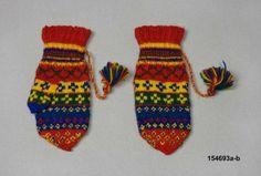 Vantar från Lappland, ca Mittens Pattern, Knit Mittens, Lappland, Knitwear, Knitting Patterns, Knit Crochet, Gloves, Museum, Textiles