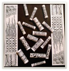 Zentangle Paper Beads love it! This could be done on polymer clay I think