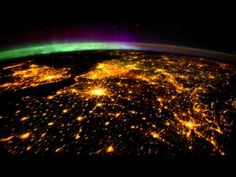 ▶ Planet Earth seen from Space (ISS), mainly at night, with aurora borealis *Full HD* - YouTube