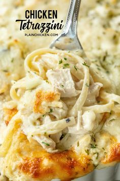 Chicken Tetrazzini - super delicious make ahead casserole! Makes a great freezer. - Chicken Tetrazzini – super delicious make ahead casserole! Makes a great freezer meal! Chicken,l - Freezer Meals, Easy Meals, Freezer Chicken, Cream Of Chicken Soup, Butter Chicken, Cream Of Mushroom Chicken, Pasta With Cream Cheese, Recipe Using Cream Of Mushroom Soup, Cream Of Chicken Casserole