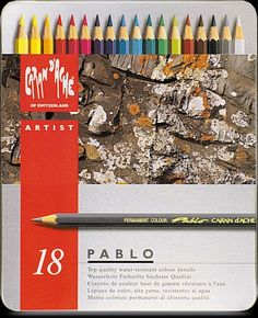 Kleurpotloden Caran D'Ache Pablo 18 potloden