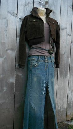 70's Hippie Jean Skirt by loveysworld on Etsy - remember...back in the day ... . . . .