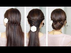 Everyday Quick Easy Hairstyles// indian hairstyles for medium/long hair for school/college/work - YouTube