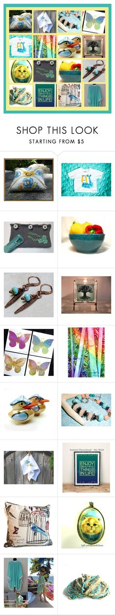 """""""Handmade & Vintage LOVE!"""" by funnfiber ❤ liked on Polyvore featuring interior, interiors, interior design, home, home decor, interior decorating, kitchen and vintage"""