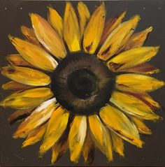 Daisy Painting on Wood Panel Original Flower Art Black and Watercolor Sunflower, Sunflower Art, Sunflower Paintings, Sunflower Kitchen, Tree Paintings, Daisy Painting, Painting On Wood, Painting Flowers, Sunflower Pictures