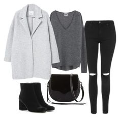 """""""Sans titre #848"""" by alexejrd ❤ liked on Polyvore featuring Topshop, MANGO, Yves Saint Laurent and Rebecca Minkoff"""