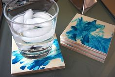 Finger Painted Coasters