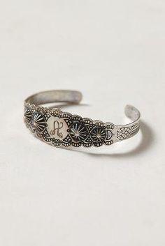 Scalloped Monogram Bracelet