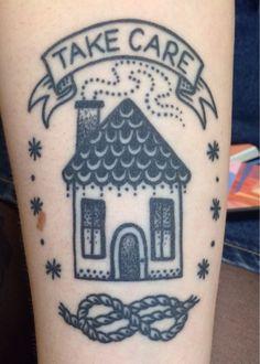 """Take Care"" tattoo by Jenn Small. 510 Expert Tattoo. Charlotte NC - Imgur"