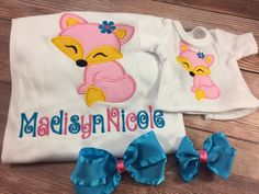 Matching Girl Doll Shirts;Girl And Doll;Dollie And Me;Made To Match;Custom Doll Clothes;Girls Gift;Fox Shirt;Embroidered Shirt;Personalized by AllAboutThemDolls on Etsy