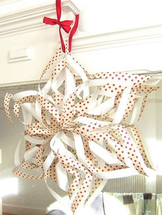 free tutorial }- Easy peasy paper snowflake ~ Three Red Apples