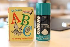 Dr. Seuss' ABC Book: Writing Letters in Shaving Cream...kiddos love this!