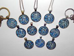 Zodiac Necklace Zodiac pendant Zodiac keychain Zodiac