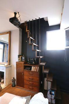 Echelle de meunier vintage en bois !  Plus d'informations sur les escaliers sur mesure de Passion Bois : escaliers-passionbois.com