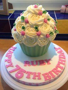 Cute Rose Giant Cupcake