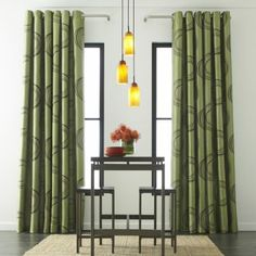 Love these curtains. Too bad the green ones just don't match the rest of the green in my living room.  So I bought the dune/dk mocha.