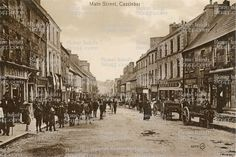Peters Street, Drogheda, Co. Old Images, Old Pictures, Old Photos, Vintage Photos, Main Street, Street View, Peter Street, County Mayo, Ireland Homes