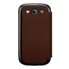 Belkin Micra Folio F8M396TTC01 Case Cover Battery Door - Brown for Galaxy S3 III #Belkin