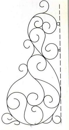 Great swirl pattern to use as a jumping-off point for coming up with your own. Quilting Stencils, Quilting Templates, Longarm Quilting, Free Motion Quilting, Quilting Tips, Hand Quilting, Piping Templates, Machine Quilting Patterns, Embroidery Patterns