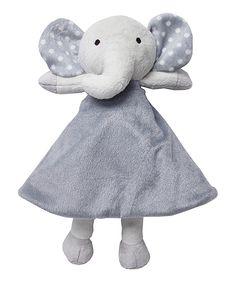 Look at this #zulilyfind! Crown Crafts Gray Elephant Security Blanket by Crown Crafts #zulilyfinds