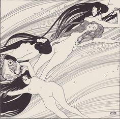 """Klimt, Fischblut. Aus """"Ver Sacrum"""", Heft Nr. 3, März 1898, Seite 6"""