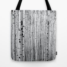 Aspen Tree Maze Tote Bag by The Blonde Dutch Girl - $22.00