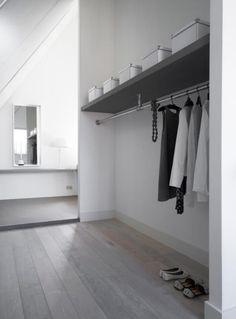 Master bedroom with dressing room and extra bathroom - by Dutch interior designer Natasja Molenaar ♥ - kapstok