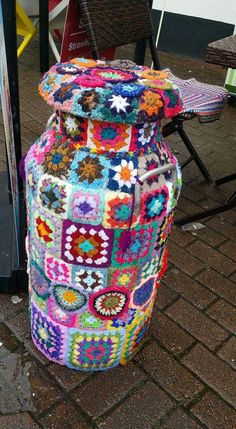 Yarn bombing Haverfordwest Pembrokeshire