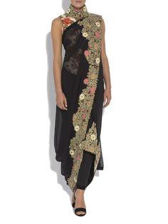 Aashni + Co - Anamika Khanna Drape sari set