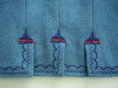 Pánský kabát,detail zadního dílu,  Luhačovické Zálesí. Folk clothing from Luhačovické Zálesí (Czech Republic).